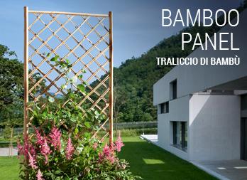 Decorare il giardino con un grigliato nortene for Canne di bamboo da arredo