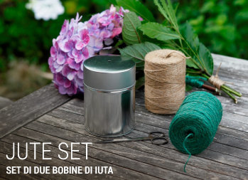 Set di due bobine di iuta