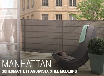 Schermante frangivista con fili in poliestere rivestito in PVC