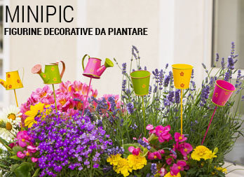 Figurine decorative da piantare