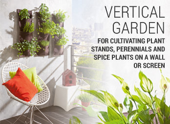 For cultivating plant stands, perennials and spice plants on a wall or screen