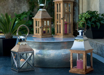 Portacandele Da Giardino : Lanterne porta candele nortene